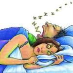 Snoring man - sleep tips
