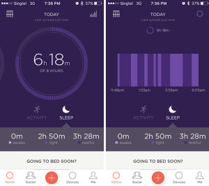 Misfit Shine 2 Sleep Tracker App